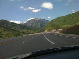 On my drive home from Park City last week. Provo Canyon.