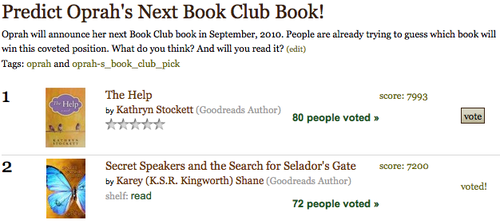 Vote for Secret Speakers if you think it makes the grade! Thank you.