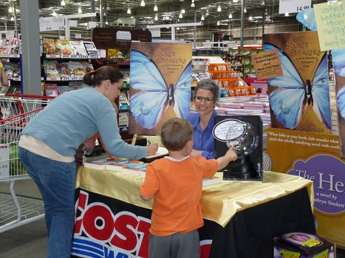 K.S.R. Kingworth's first book signing. This is at the Costco store in Orem, Utah.